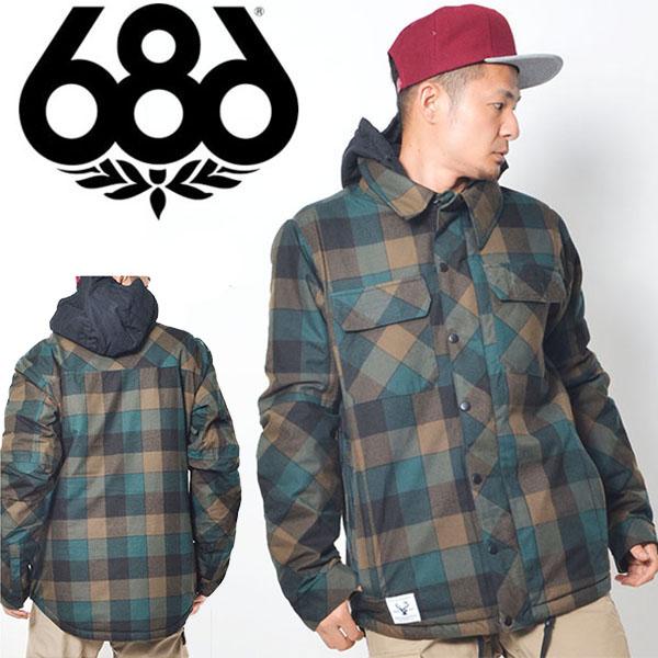 送料無料 スノーボードウェア 686 SIX EIGHT SIX シックスエイトシックス Authentic Woodland Jacket メンズ ジャケット スノボ スノーボード スノーウェア 得割35