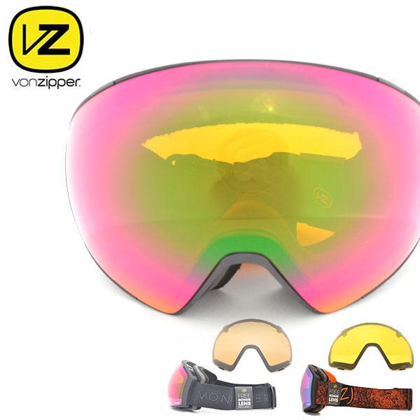 30%off 送料無料 スノーゴーグル VONZIPPER ボンジッパー メンズ レディース JETPACK ジェットパック ジャパンフィット 日本正規品 球面レンズ スノーボード スノボ スキー スノー ゴーグル スペアレンズ ボーナスレンズ