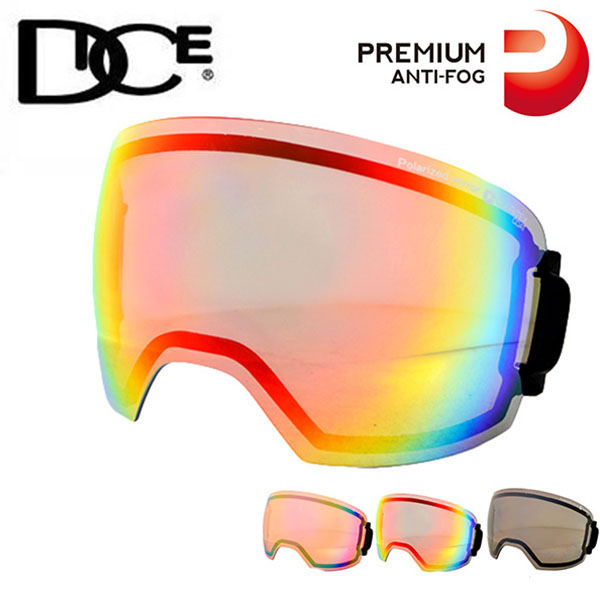 送料無料 スペアレンズ DICE ダイス HIGH ROLLER ハイローラー 日本正規品 プレミアムアンチフォグ 交換レンズ 球面レンズ 偏光レンズ スノーボード スノボ スキー スノーゴーグル 10%off