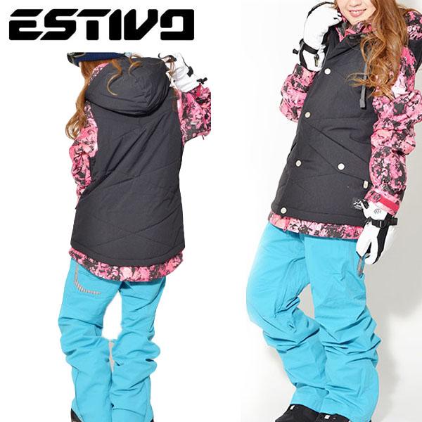 送料無料 スノーボードウェア エスティボ ESTIVO MELLOW JKT レディース ジャケット スノボ スノーボード スノーボードウエア SNOWBOARD WEAR スキー SKI 30%off