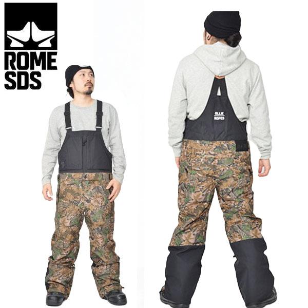 30%off 送料無料 スノーボードウェア ROME SDS ローム メンズ HOWL PANTS オーバーオール ビブパンツ つなぎ パンツ スノボウェア スノーウエア スノーボード スノボ スキー ウェア