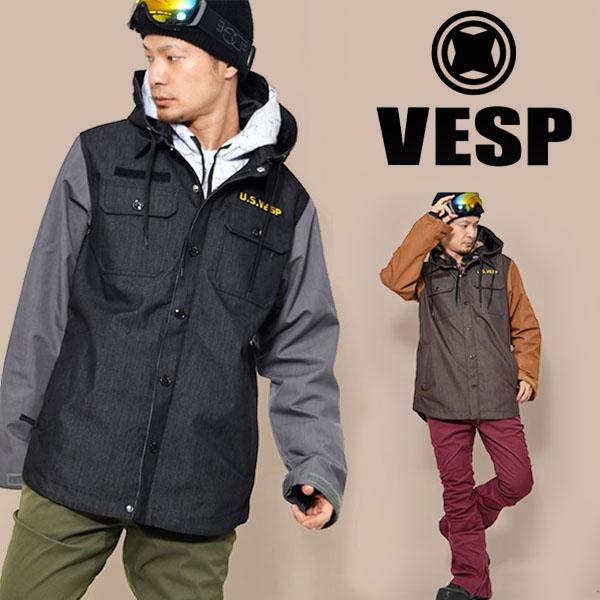 送料無料 スノーボードウェア VESP ベスプ THREEWAY MILITARY JACKET メンズ VPMJ16-01 3way ジャケット スノボ スノーボード メンズ レディース ユニセックス 35%off
