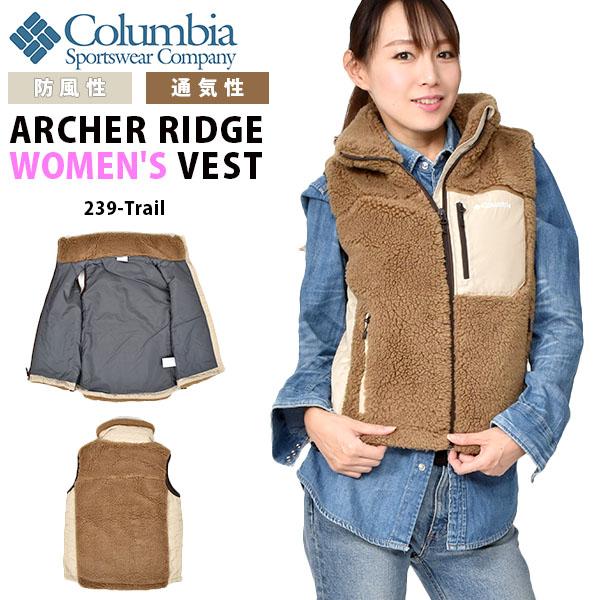 送料無料 フリース アウトドアベスト Columbia コロンビア レディース Archer Ridge Women's Vest もこもこ モコモコ ベスト アウター アウトドア トレッキング 登山 キャンプ ハイキング フェス PL1046 239 Trail 20%off 【あす楽対応】