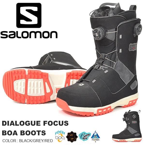 送料無料 SALOMON サロモン スノーボード ブーツ メンズ ボア システム DIALOGUE FOCUS BOA BOOTS スノボ スノーブーツ L36155900 【得割30】