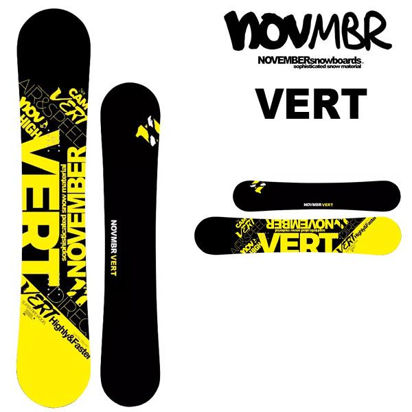 送料無料 NOVEMBER ノベンバー 板 スノー ボード VERT バート メンズ 紳士 スノボ スノーボード キャンバー 154 17/18 25%off
