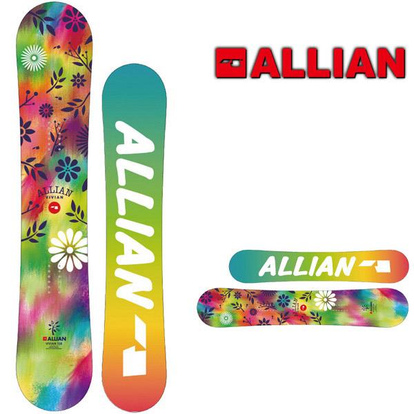 送料無料 ALLIAN アライアン 板 スノー ボード VIVIAN ミッド キャンバー レディース スノーボード 138 フリースタイル ウィンタースポーツ 婦人 25%off