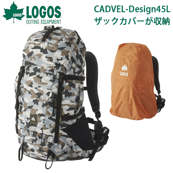 送料無料 ロゴス LOGOS バックパック メンズ レディース CADVEL-Design45 45L 大容量 カモフラ カモ柄 リュックサック アウトドア レジャー トレッキング 登山 旅行 バッグ カバン かばん 鞄