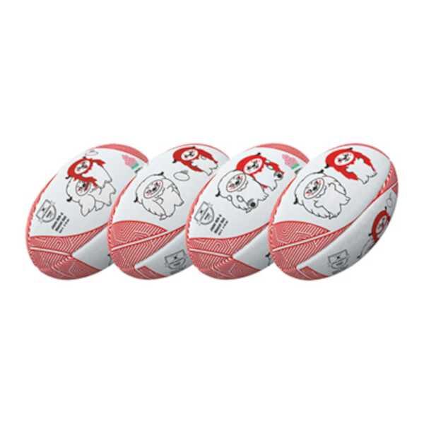 ギルバート レンジー JRFUマスコットボール ラグビーボール 公式通販 4号球 #GB-9312 割引クーポン有 GILBERT 大特価 ボール アウトドア ギルバート: スポーツ ラグビー