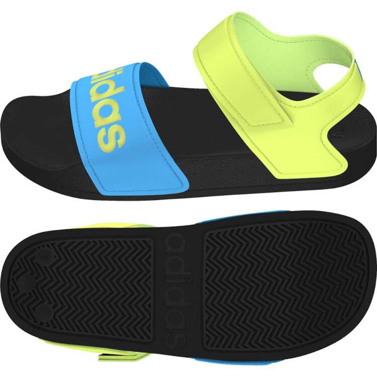 アディダス ADILETTE SANDAL K ジュニアサンダル 2020モデル サイズ:20.0cm カラー:コアブラック×ソーラーイエロー メンズ靴 割引クーポン有 アディダス: #DQY65-FY8850 サンダル 今ダケ送料無料 靴 ADIDAS