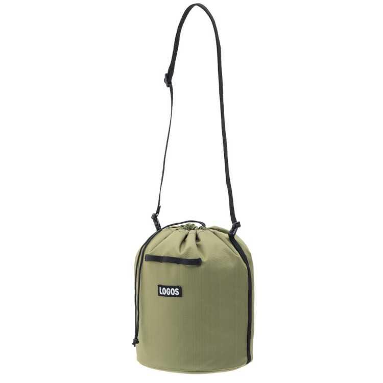 送料無料 ロゴス LOGOS スタンダード 巾着バッグ モスグリーン サイズ:幅28×奥行19×高さ26cm 選択 4L #36783369 ロゴス: スポーツ キャンプ 全国一律送料無料 割引クーポン有 バッグ アウトドア