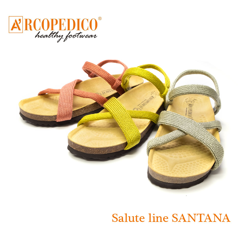 ARCOPEDICO アルコペディコ サンダル サルーテライン サンタナ Salute Line SANTANA 軽量 軽い レディース メンズ ユニセックス ぺたんこ 歩きやすい 本革 レザー おしゃれ かわいい 足に優しい