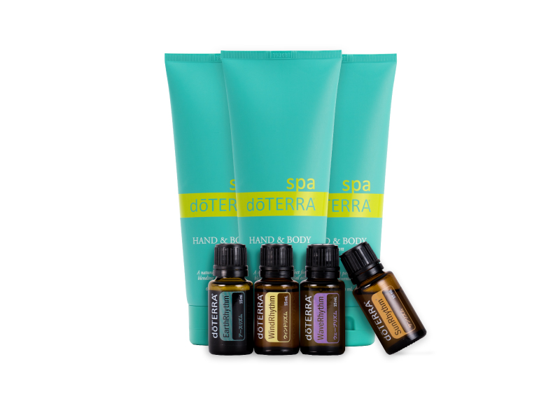 Dotera doTERRA hand & body lotion 3 book set and mood Management Kit essential oil 4 each 15 ml aromatic oils essential oils essential oil aroma body cream unscented moisturizing moisture cream 02P01Oct16