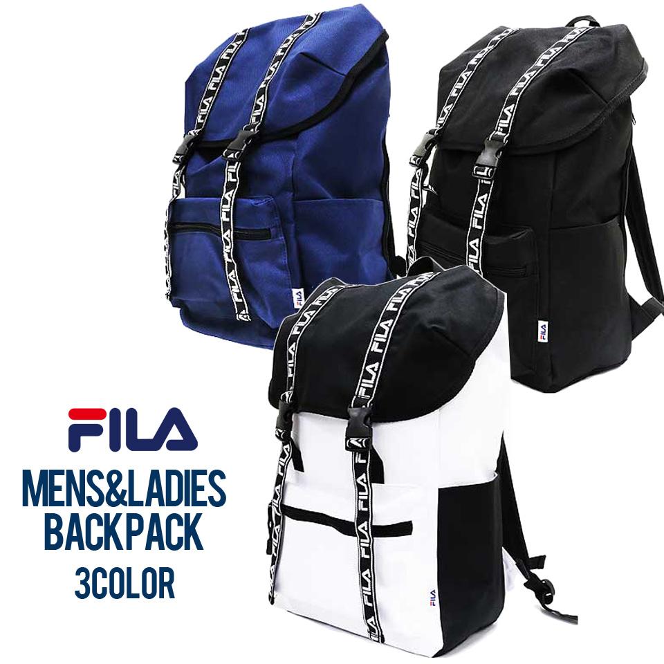 b308f5fecf69 FILAリュックメンズレディースフィラロゴテープフラップデイパックリュックサックバックパックバッグ鞄ブランド