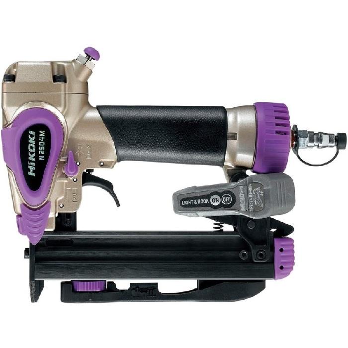 ステーブル幅4mmタイプ HiKOKI ステープル幅4mm 流行 タッカ エアダスタ付 大特価 N2504M ケース付