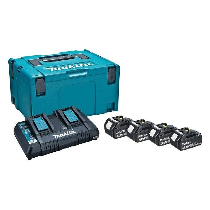 流行のアイテム マキタ パワーソースキット2 A-67094 18V 6.0Ah 2口急速充電器DC18RD モデル着用&注目アイテム バッテリBL1860Bx4個 マックパックタイプ3