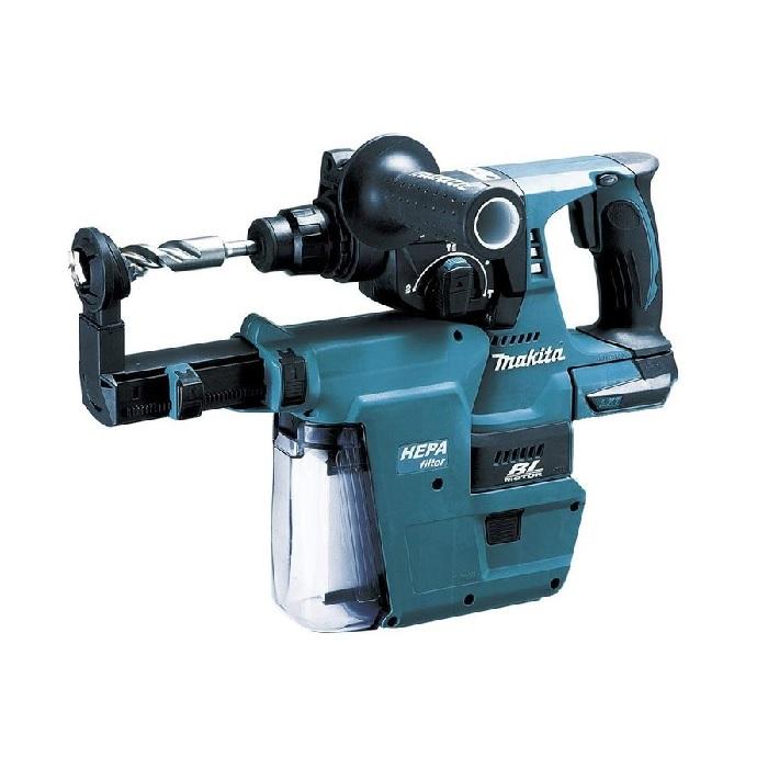 マキタ 18V 24mm 充電式ハンマドリル(SDSプラス)HR244DZKV 集じんシステムDX01付 本体のみ(ケース付/バッテリ・充電器・ビット別売)