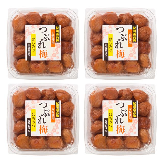 塩分控えめ 風味豊かなハチミツで味付け 大粒3L 公式通販 4Lサイズ厳選 梅干し 訳ありセール 格安 紀州南高梅 はちみつ梅 つぶれ梅 1kg×4パック 大粒 塩分3%