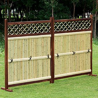 竹垣 横型 2枚組 目隠しフェンス竹垣 たけがき ガーデニング 隣地境界 境界