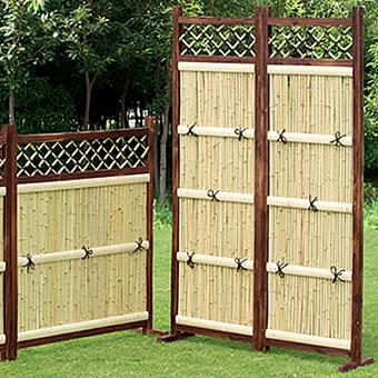 竹垣 縦型 2枚組 目隠しフェンス竹垣 たけがき ガーデニング 隣地境界 境界