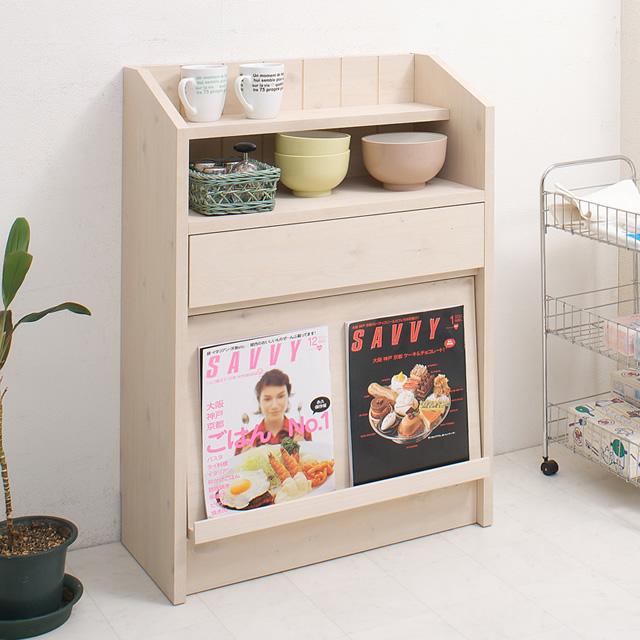 【メーカー直送品】04-no-0019 Miltie 日本製 キッチン カウンター下 収納 フラップ扉 キャビネット 幅60.5cm 完成品