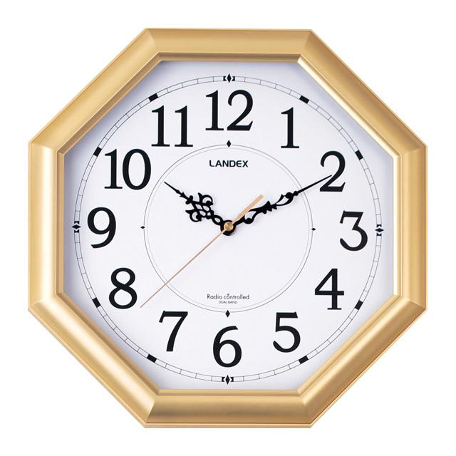 縁起がよいゴールドカラーの風水八角時計 風水 メーカー直売 金運 国内正規総代理店アイテム 開運グッズ 風水八角時計 八角形 壁掛時計 掛け時計 電波時計 電波 金閣 時計 八角