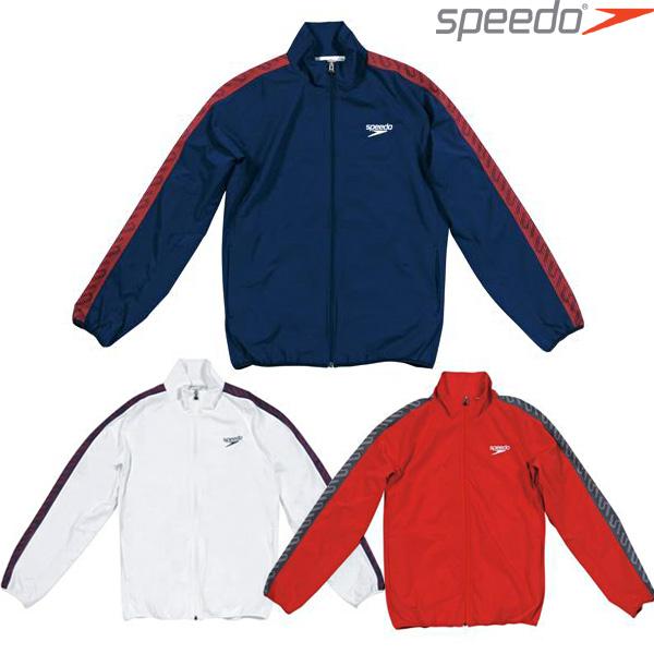 スピード【SPEEDO】モノグラム ウインドジャケット SD12F10 ウインドブレーカー スポーツウェア アウター 裏地メッシュ 吸汗速乾 【メンズ】