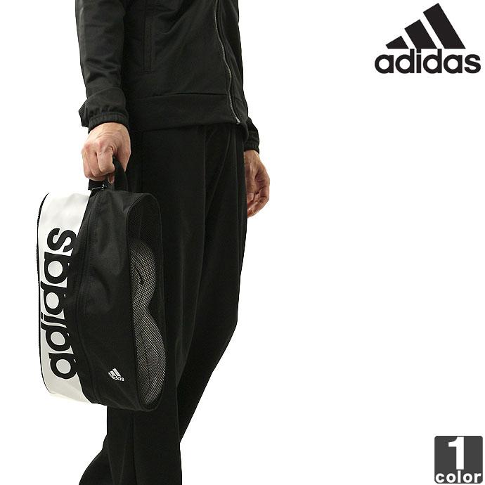 d8df4cffd408 アディダス【adidas】 リニア ロゴ シューズケース BVB33 1809 バッグ シューケース 鞄 スポーツ ジム クラブ ヨガ 部活 出張  旅行 ケース 収納 シューズバッグ 靴入れ