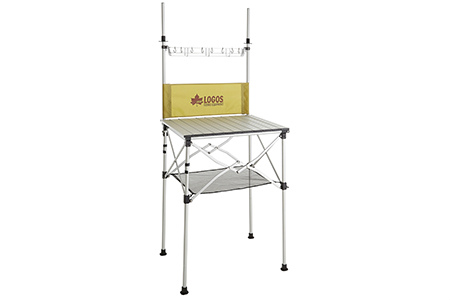 《送料無料》LOGOS(ロゴス) smart LOGOS kitchen クックテーブル(風防付き) 73186510 1602 アウトドア キャンプ 用品 アクセサリー