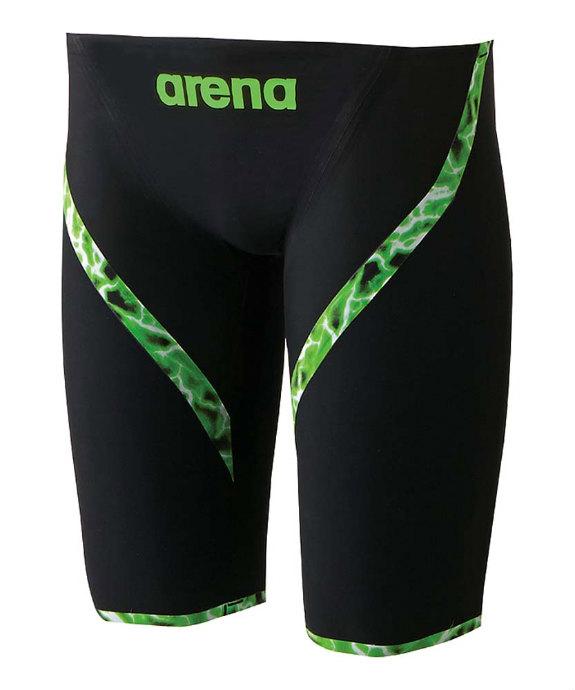 《送料無料》arena (アリーナ) AQUAFORCE LIGHTNING ハーフスパッツ ARN6001M 1609 プール 水泳 競泳 スイミング フィットネス ジム メンズ 紳士