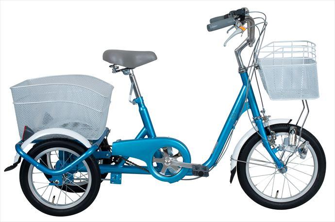 《送料無料》スイングチャーリー【SWING CHARLIE】 三輪自転車 16インチ ロータイプ三輪自転車 MG-TRE16SW-BL 1710 【メンズ】【レディース】 フロント16 リア14