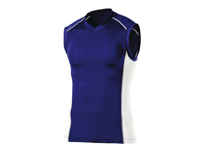 ■WUNDOUのウェア WUNDOU ウンドウ Vネックインナーシャツ ノースリーブ ☆最安値に挑戦 ネイビー P-7040 ウェア メンズ セール価格 オールスポーツ 紳士 男性 1710
