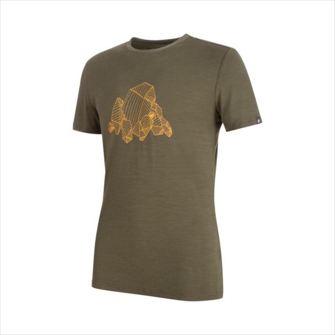 MAMMUT (マムート) Alnasca T-Shirt Men iguana 1017-00070 1803 メンズ 紳士 男性 Tシャツ ウェア アウトドア