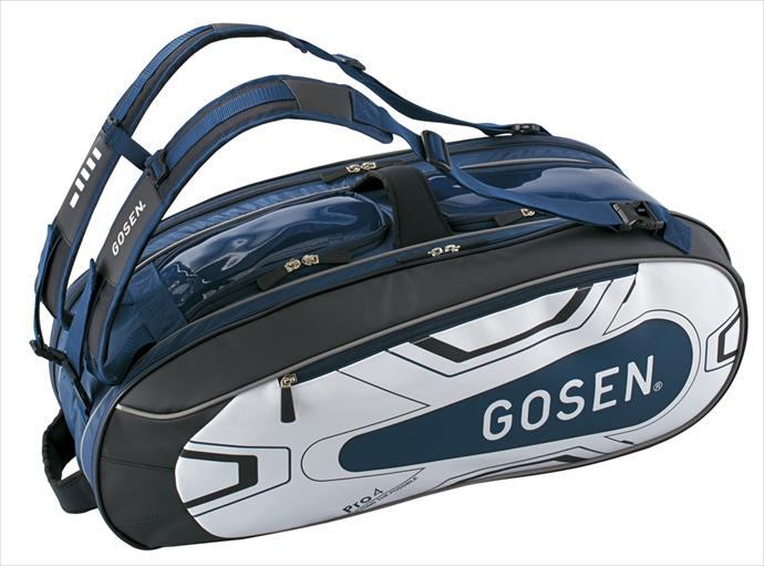 《送料無料》GOSEN(ゴーセン) ラケットバッグ Pro4 ラケット4本収納可 BA18PR4G 1805 【メンズ】【レディース】 テニス バッグ