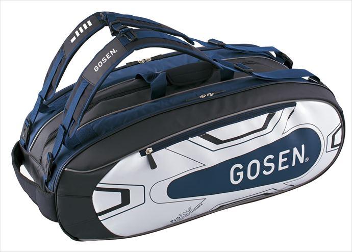 《送料無料》GOSEN(ゴーセン) ラケットバッグ ProTour ラケット9本収納可 BA18PRTG 1805 【メンズ】【レディース】 テニス バッグ