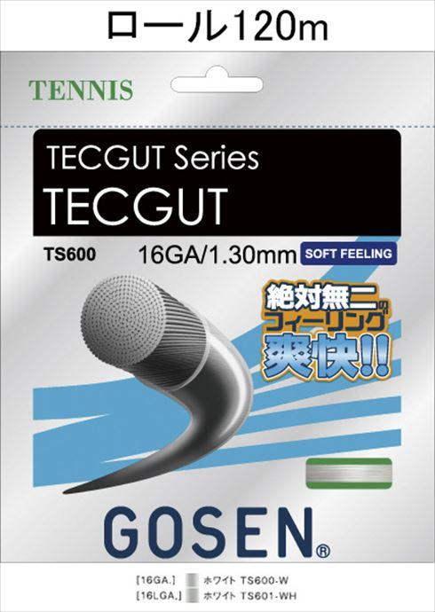 《送料無料》GOSEN(ゴーセン) テックガット16 TECGUT 16 120mロール TS6001W 1805 【メンズ】【レディース】 テニス ガット(国内)