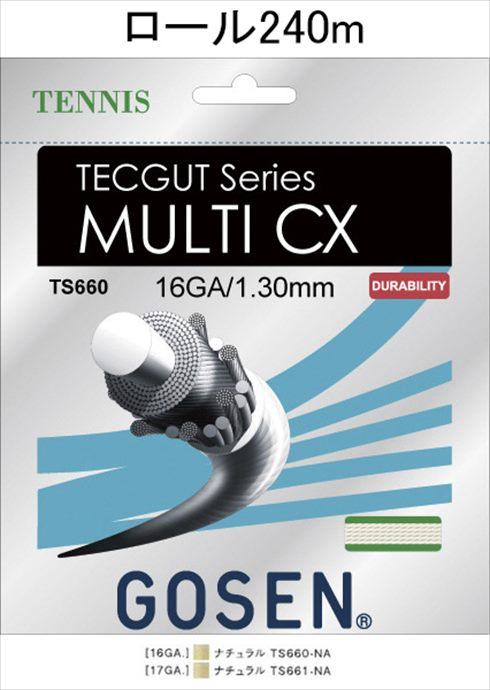 《送料無料》GOSEN(ゴーセン) テックガット マルチ CX 16 TECGUT MULTI CX 16 240mロール TS6602NA 1805 【メンズ】【レディース】 テニス ガット(国内)