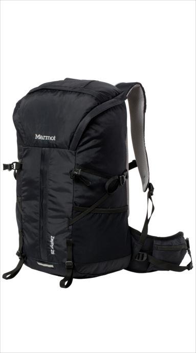 《送料無料》Marmot (マーモット) ゼファー25 BLK TOALJA01 1809 バッグ バックパック