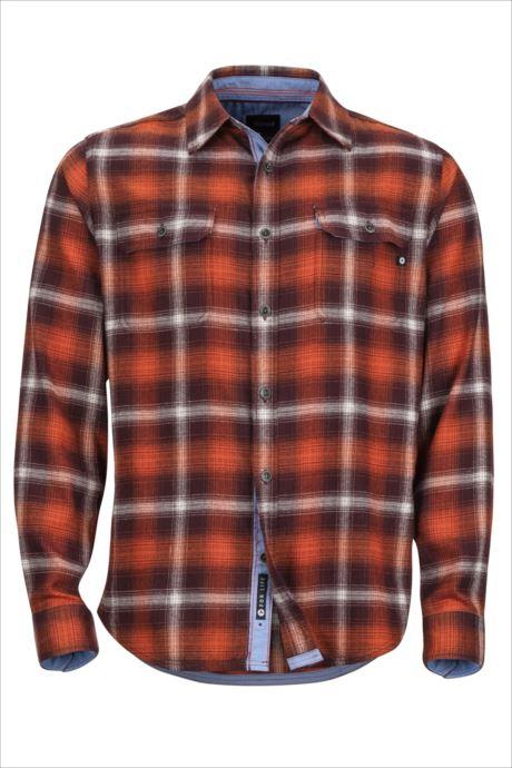 Marmot (マーモット) ジャスパーミッドウェイトフランネルLSシャツ バーガンディー TOMMGB4450 1809 トップス シャツ ブラウス