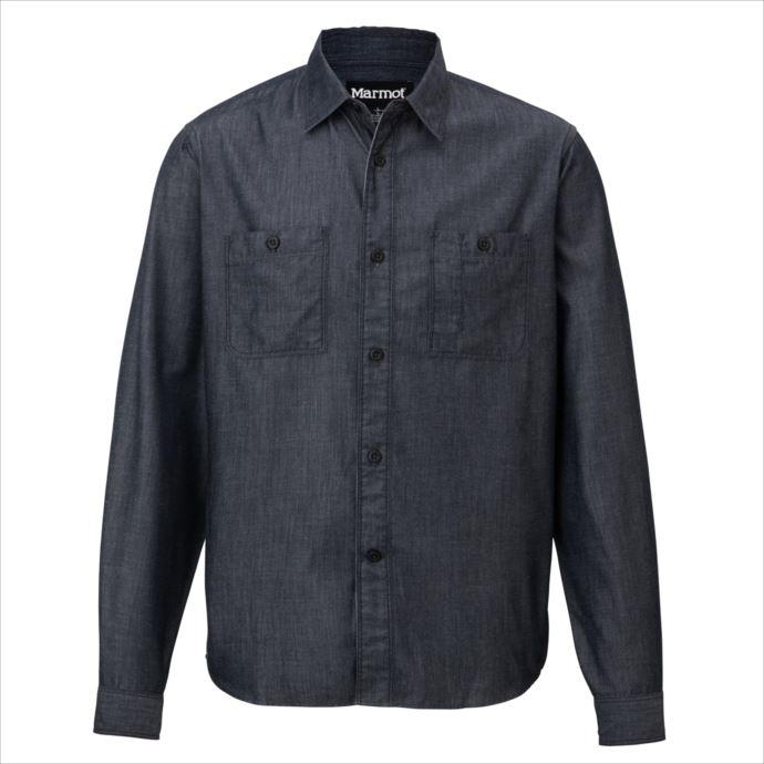 《送料無料》Marmot (マーモット) キューディーデニムロングスリーブシャツ IND TOMMJB78 1809 トップス シャツ ブラウス