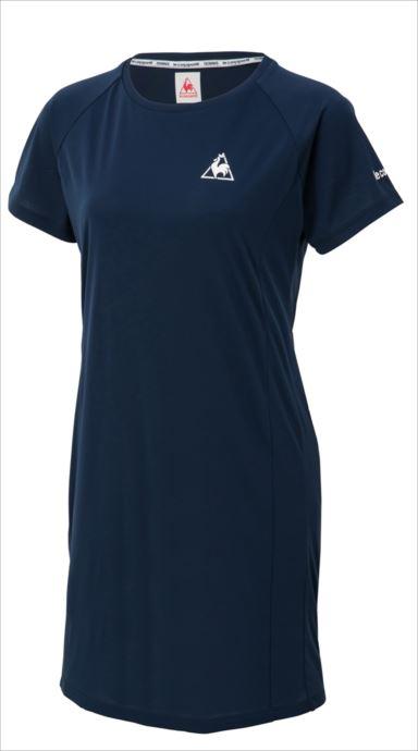 le coq sportif (ルコック スポルティフ) ワンピースシャツ/ONE-PIECE DRESS NVY QTWMJJ02 1810 レディース テニス ウェア