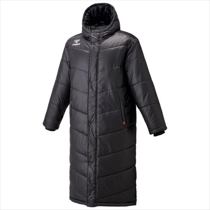《送料無料》hummel(ヒュンメル) 中綿ロングコート(90)ブラック HAW8081 1810 コート