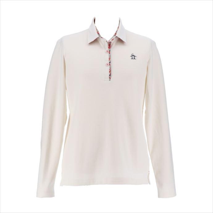 《送料無料》Munsingwear (マンシングウェア) レディス ウォーモトリコット長袖シャツ ホワイト MGWMJB19 1908 ゴルフ ニット ウェア 長袖シャツ