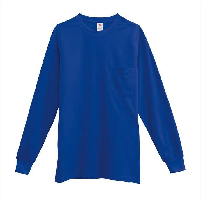 ■TS DESIGNのウェア TS 新作からSALEアイテム等お得な商品 満載 DESIGN 引出物 TSデザイン 長袖Tシャツ 2002 ユニフォーム 作業服 藤和 ロイヤルブルー 1095