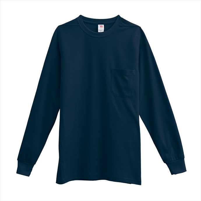 ■TS DESIGNのウェア TS DESIGN 未使用品 TSデザイン 長袖Tシャツ ネイビー ◆在庫限り◆ 作業服 1095 ユニフォーム 藤和 2002