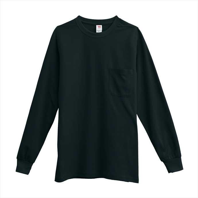 ■TS DESIGNのウェア TS DESIGN TSデザイン 長袖Tシャツ 藤和 作業服 超人気 1095 ブラック 2002 新作 ユニフォーム