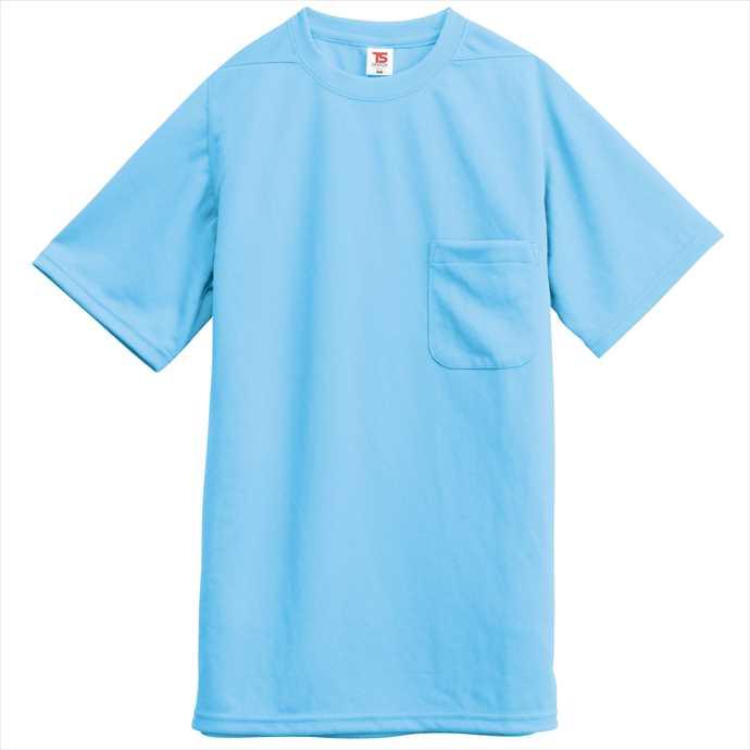 ■TS 超激安 DESIGNのウェア TS 店内全品対象 DESIGN TSデザイン Tシャツ ポケット付 藤和 ユニフォーム 2002 サックス 2055 作業服