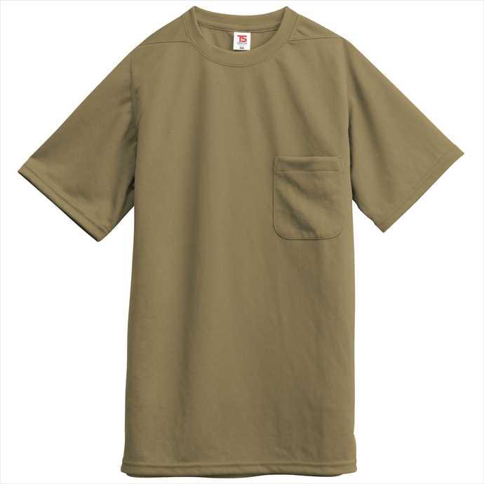 ■TS 日本産 DESIGNのウェア TS DESIGN TSデザイン Tシャツ ポケット付 藤和 2002 2055 安い ユニフォーム ブラウン 作業服