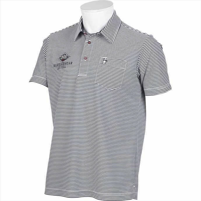 《送料無料》ポロシャツ Munsingwear(マンシングウェア) メンズ SUNSCREENミニボーダー半袖シャツ MGMPJA13 2003 スポーツ シャツ ゴルフ ウェア