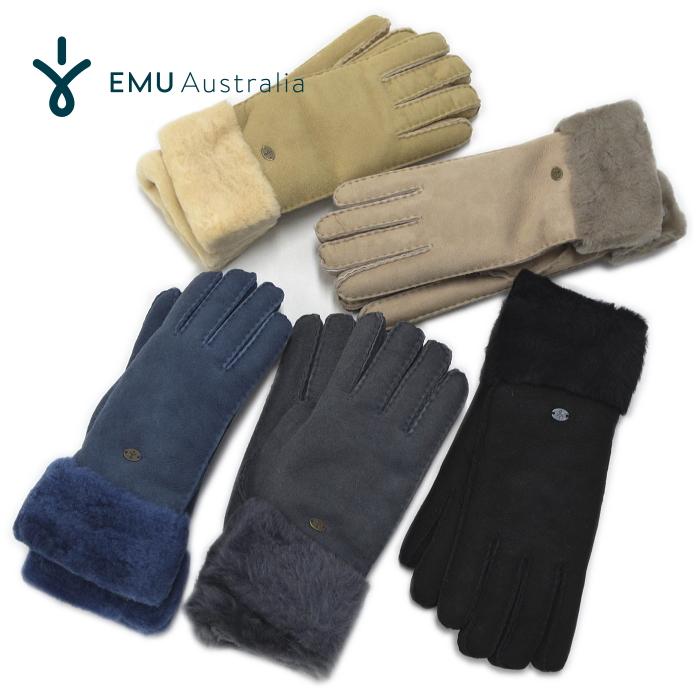 EMU Australia エミュー エミュ ムートン 手袋 W9405 グローブ アポロベイグローブ シープスキン Apollo Bay Gloves 【あす楽対応