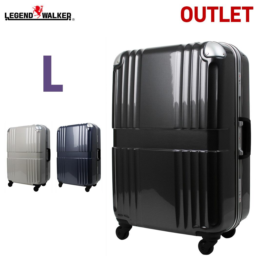 【クーポン発行】【名前入れ無料!】スーツケース 【アウトレット品 少し傷があるので特価】キャリーバッグ キャリーケース 旅行カバン 超軽量 100%PC TSAロック 7日以上 対応 大型 Lサイズ 6020-68